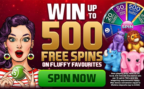 Win 500 Free Spins on Fluffy