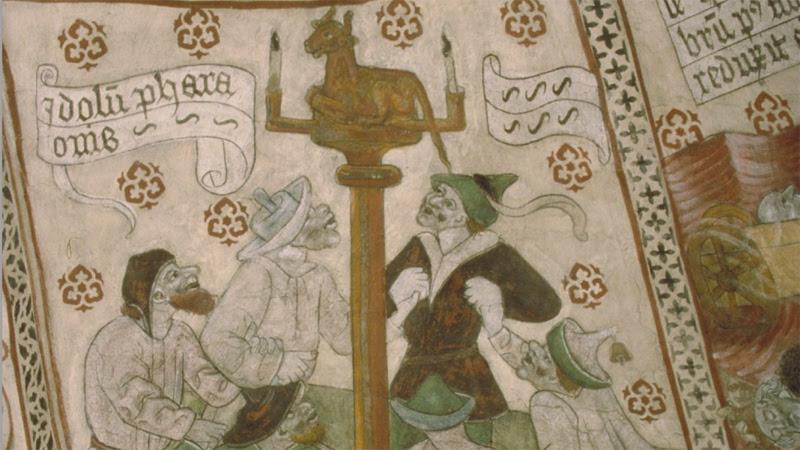 Färgen i de gamla kyrkomålningarna