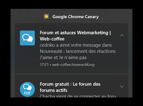 """Nouvelles fonctionnalités du forum : système de Likes avec les réactions """"J'aime"""" et """"Je n'aime pas"""" Notif11"""