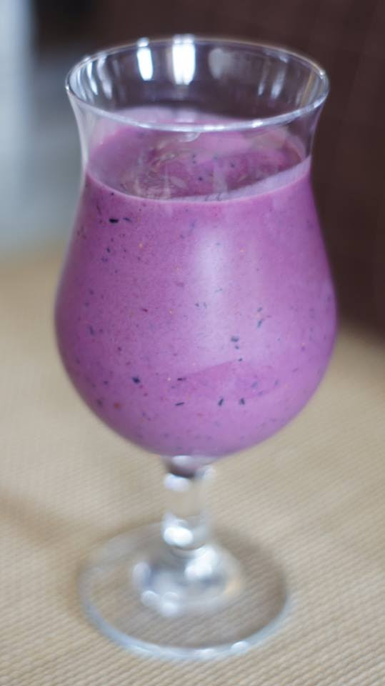 Smoothie blueberry