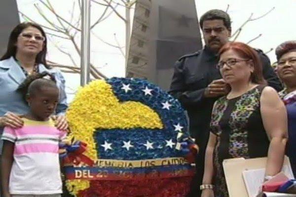 Maduro en el Monumento de los Caídos en el Chorrillo