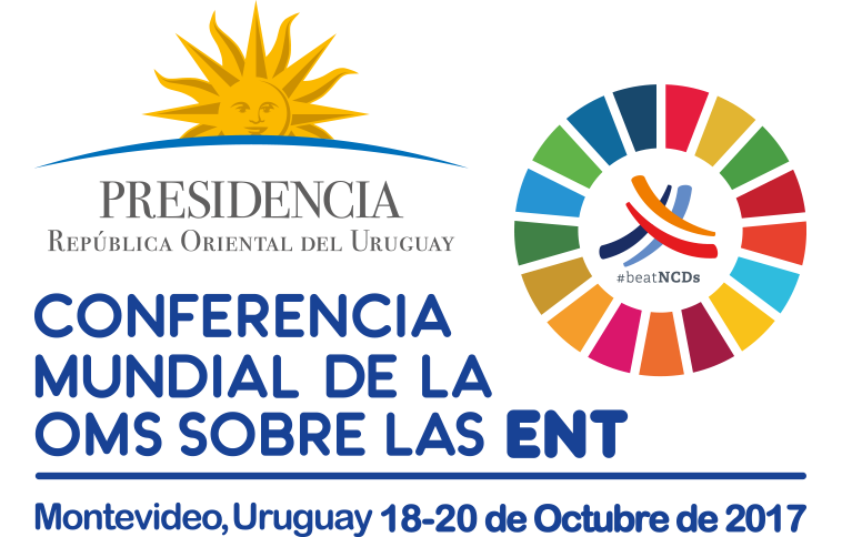 Logo of the WHO Global Conference on NCDs Enhancing policy coherence between different spheres of policy making that have a bearing on attaining SDG target 3.4 on NCDs by 2030.