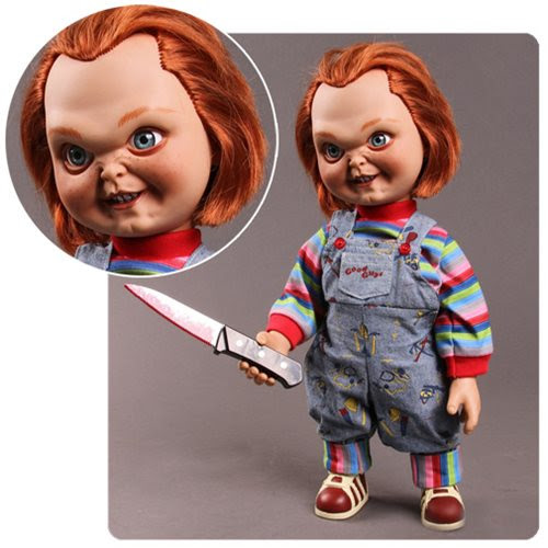 """Image of Child&squot;s Play Sneering 15"""" Chucky Talking Doll"""