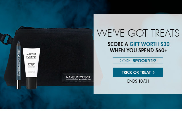 Code SPOOKY*: Spend $60+ and receive a gift worth $30