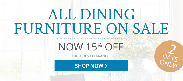 All dining furniture on sale, shop now.