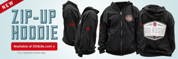 DD Zip up Hoodie now avaialble