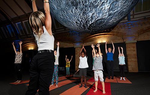 Family Yoga under the Moon