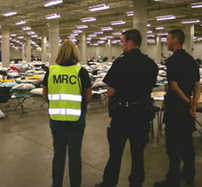 The Medical Reserve Corp (MRC) preparing for Hurricane Katrina