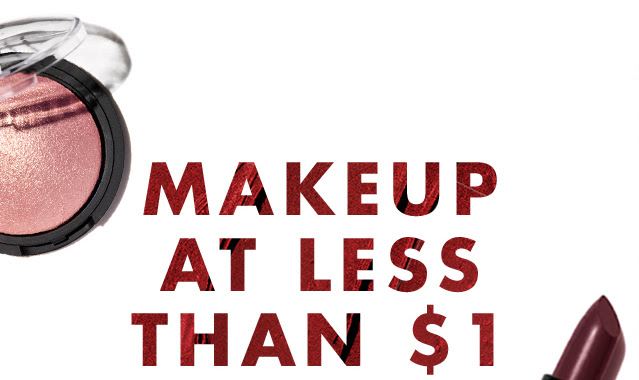 Makeup starting at less than $...