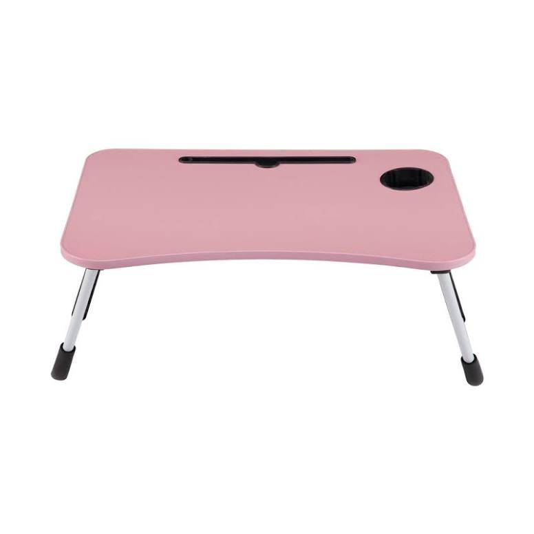 Odi Meja Laptop Dengan Tempat Gelas - Pink