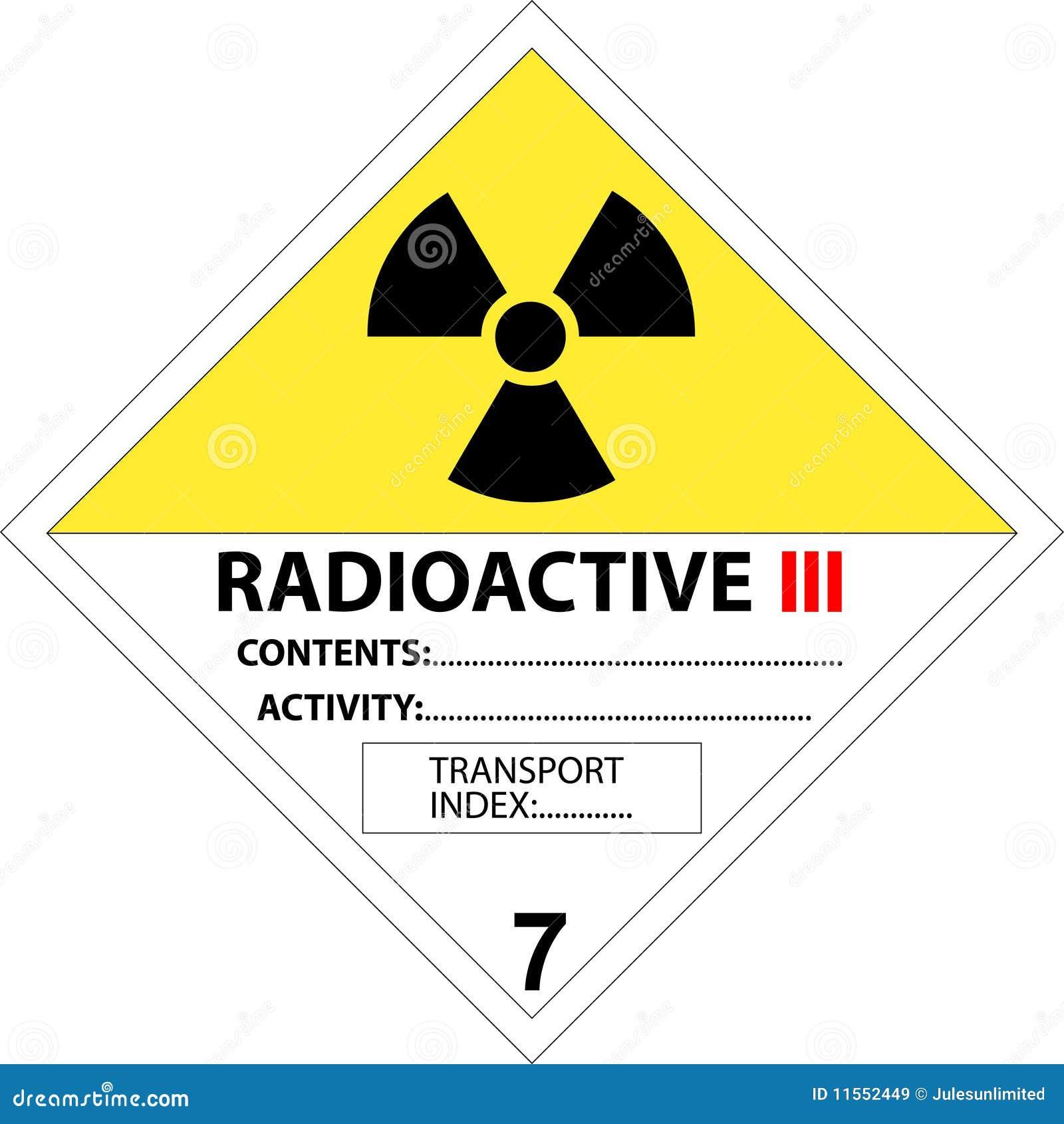 Sicurezza E Segnale Di Pericolo Radioattivi Illustrazione ...