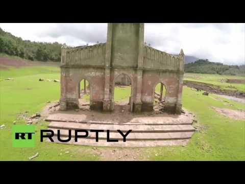 Venezuela: Drone footage shows town's ruins emerged from flood water after 32 years  Hqdefault