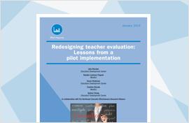 Redesigning Teacher Evaluation