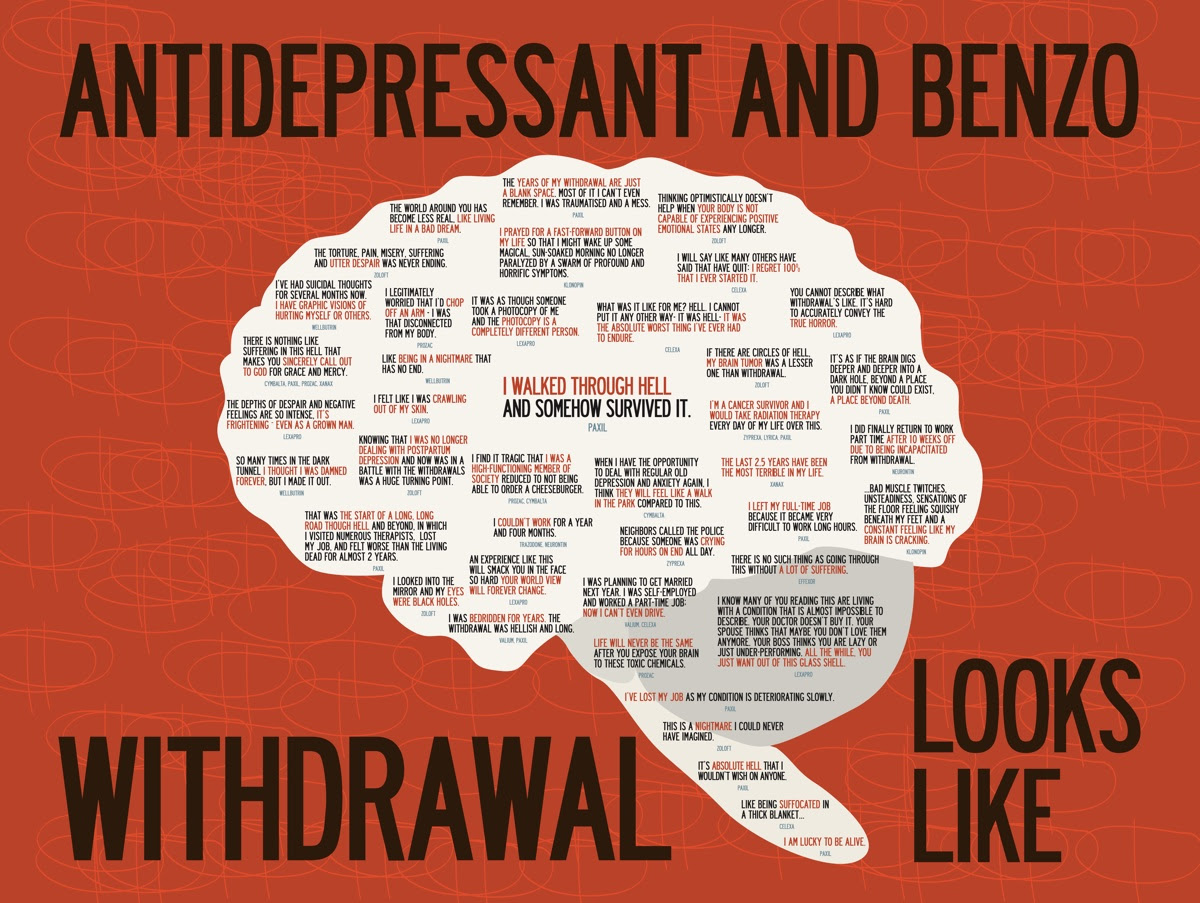 Antidepressant and Benzo Withdrawal Looks Like, by Kelly Davis