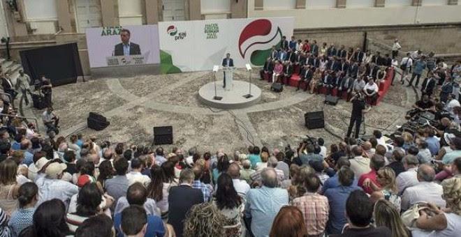 Acto del PNV, por su 120 aniversario, en Gernika. /EFE