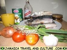 Mackerel Run Down - Ingredients