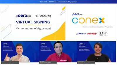 Virtual signing ceremony between Brankas and PERA HUB