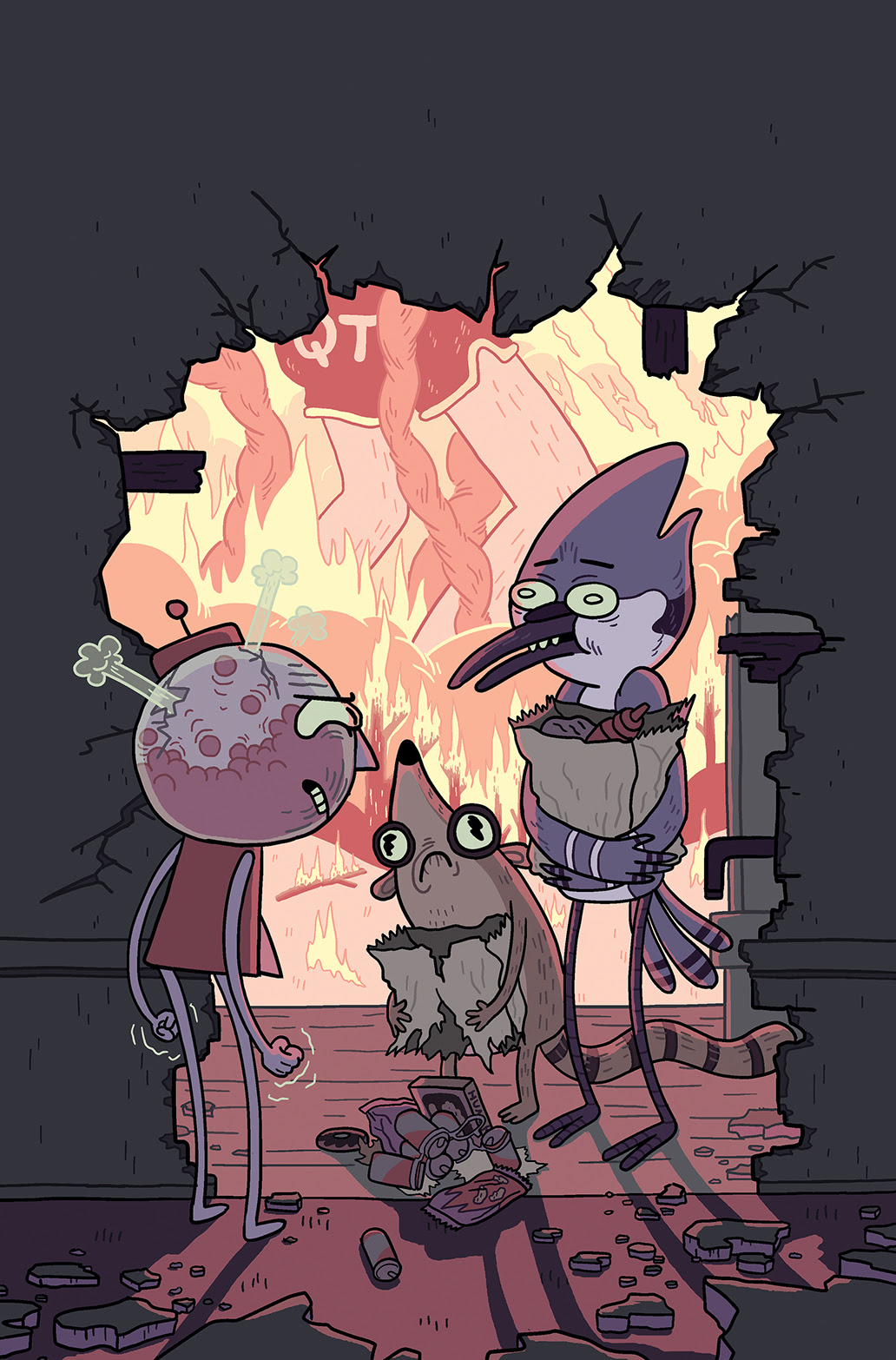REGULAR SHOW 2014 ANNUAL #1 Cover B by Jen Lee