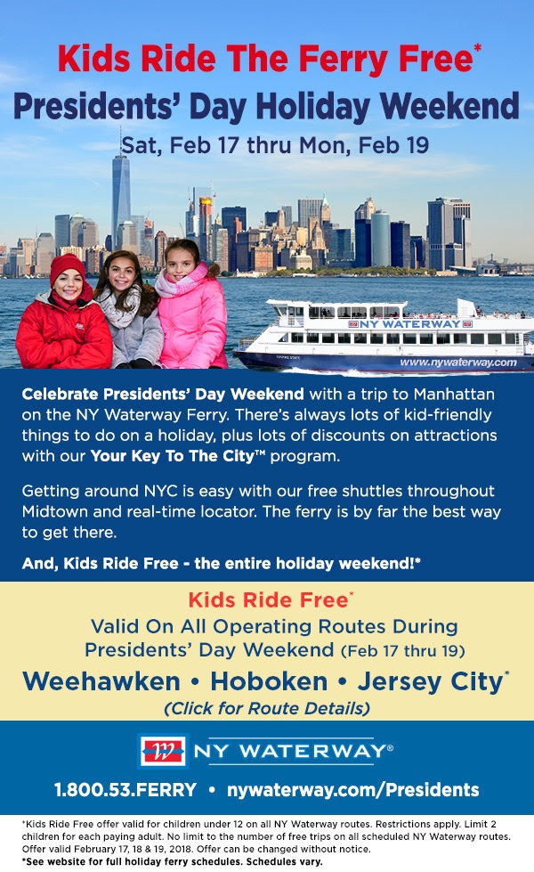 ny waterway presidents day