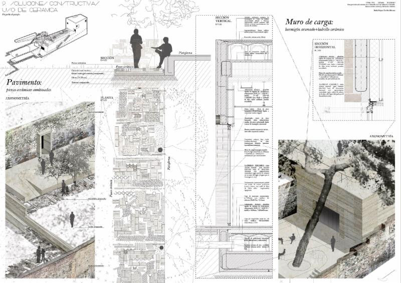 First prize_ _A Landscape Garden_ restoration of the area around the Zir_ Wall in the El Albaic_n district of Granada. A new Residents_ Centre and Tourist Information Office_ by Rafael L_pez-Toribio Moreno_ a student at the Granada School of Architecture.