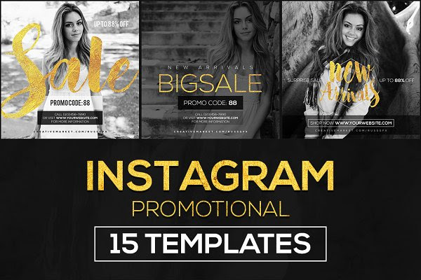 15 Instagram Templates vol.9: Promo