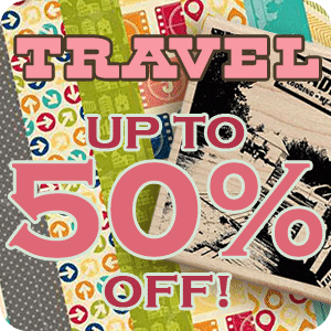Get up to 50% off Travel Themed Items!