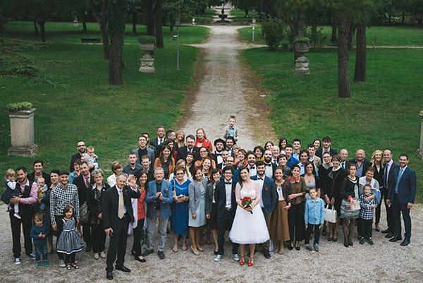 foto di gruppo matrimonio anni 50