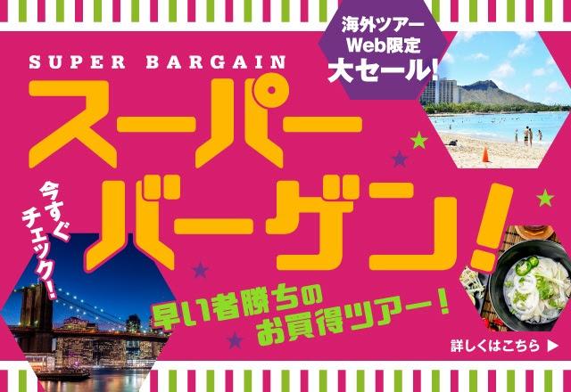 Web限定!期間限定のお買得ツアー ハワイ、アメリカ・カナダ、アジア