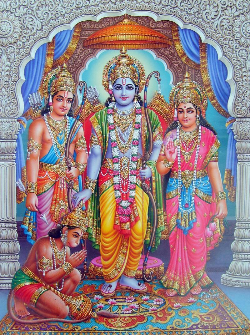 Rama Sita Lakshmana Hanumana