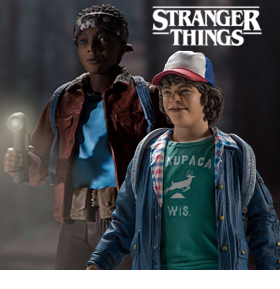 STRANGER THINGS DUSTIN & LUCAS ACTION FIGURES