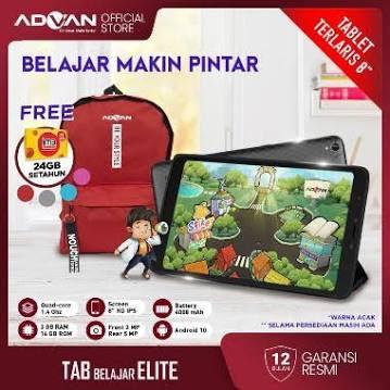 Advan Tab Belajar Elite 8 Inci 3 GB 16 GB Quadcore Tablet Android 10 Garansi Resmi