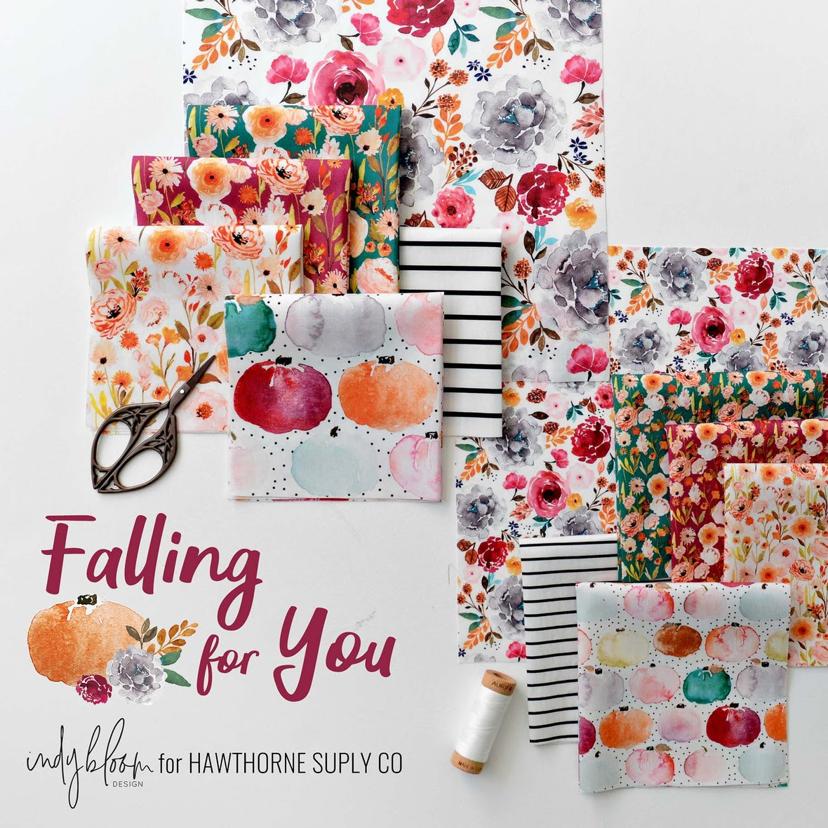 Indy Bloom Falling for You Fabric for Hawthorne Supply Co