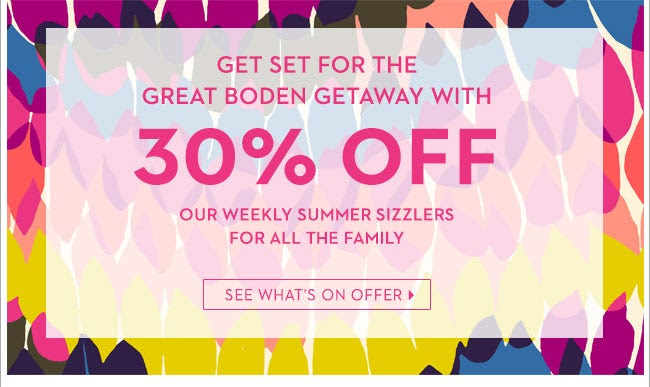 Save 30% OFF Selected Items +  Free Delivery at Boden.co.uk