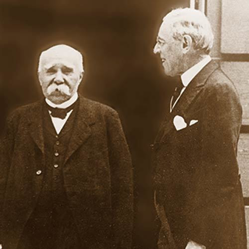 Georges Clemenceau and Woodrow Wilson