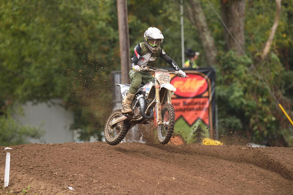 Myles Gilmore found himself at the front of the pack and earning the Mini Sr 1 (12-13) moto one win.