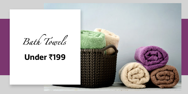 Bath Towels under Rs.199