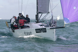 J/88 sailing J.P. Morgan Round Island Race- Isle of Wight, England