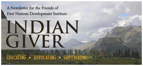 Indian Giver Newsletter Header