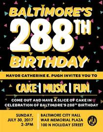 Baltimore Birthday