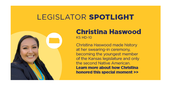 Legislator Spotlight: Christina Haswood, KS HD-10