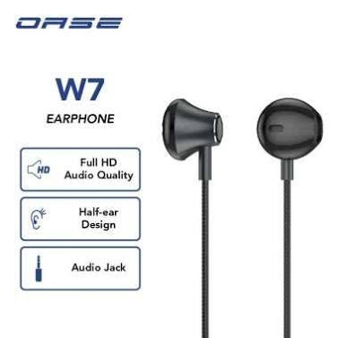 OASE Wired Earphone Headset In Ear Handsfree Cable Length 120 cm Garansi Resmi 6 Bulan W7