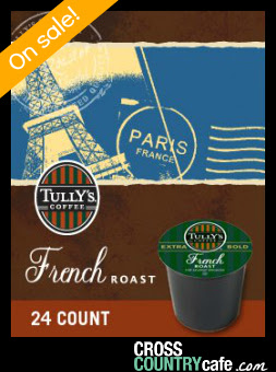 Tully's French Roast Keurig K-cup coffee