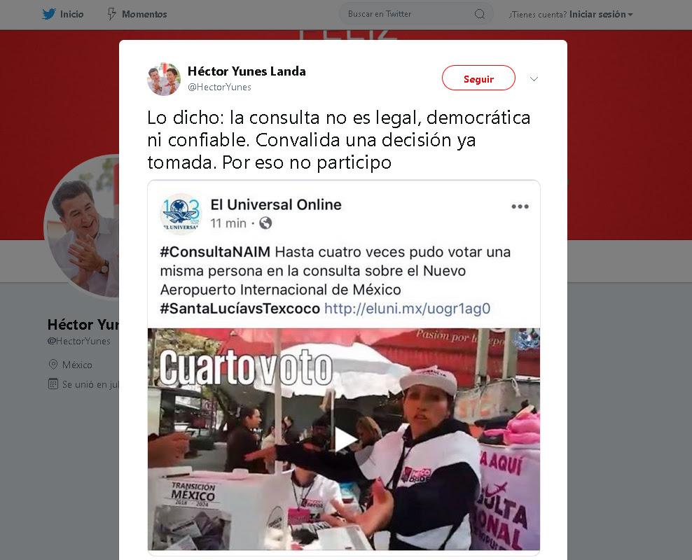 Hector Yunes Landa - twitter