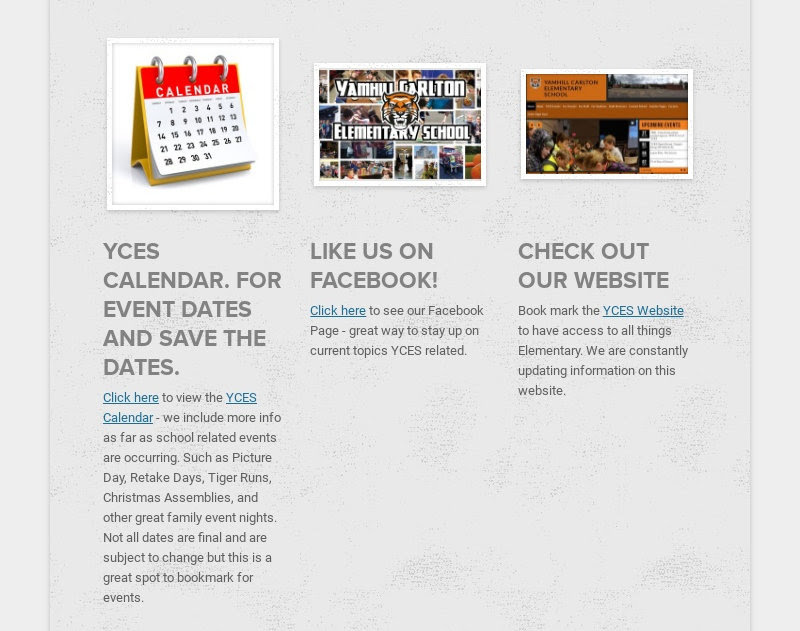 YCES CALENDAR. FOR EVENT DATES AND SAVE THE DATES.                         Click here to view the YCES Calendar - we...