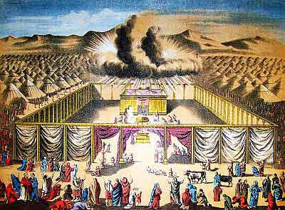 The 12 tribes encamped                     around the Tabernacle