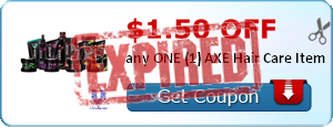$1.50 off any ONE (1) AXE Hair Care Item
