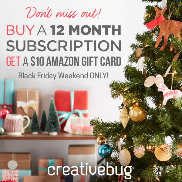 Buy a 12 Month Creativebug Sub...