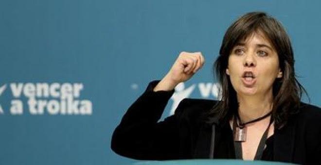 La diputada y coordinadora del Bloco de Esquerda, Catarina Martins.