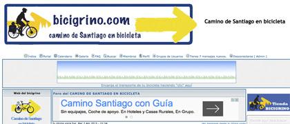 Web principal del Bicigrino