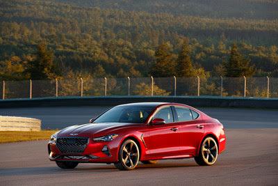 2019 Genesis G70 luxury sport sedan, a Car and Driver 10Best award winner.